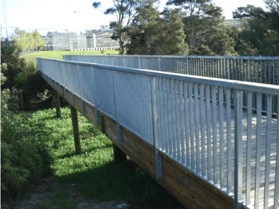 Bridge with Galvanised Handrails